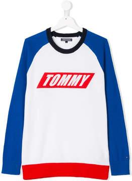 Tommy Hilfiger Junior TEEN logo printed sweatshirt