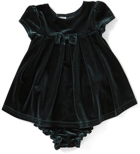 Starting Out Baby Girls 3-24 Months Velvet Bow Dress