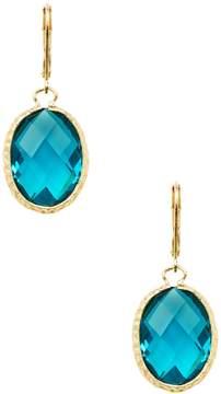 Rivka Friedman Women's 18K Gold & Blue Crystal Oval Drop Earrings