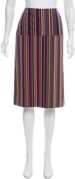 Dries Van Noten Striped Knee-Length Skirt