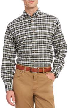 Daniel Cremieux Big & Tall Plaid Oxford Long-Sleeve Woven Shirt