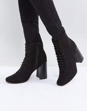 Asos EVONNA Lace Up Heeled Ankle Boots