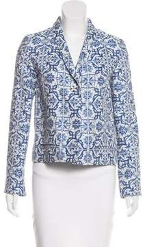 Creatures of the Wind Printed Shawl-Lapel Blazer