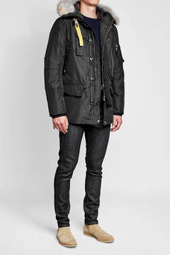 Parajumpers Kodiak Down Jacket with Fur-Trimmed Hood
