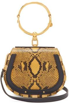 Chloé Nile Small Leather And Suede Cross Body Bag - Womens - Yellow Multi