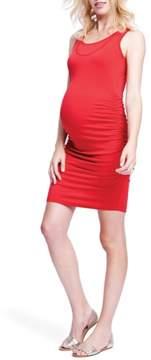 Maternal America Ruched Maternity/Nursing Dress