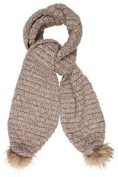 Diane von Furstenberg Fur-Trimmed Open Knit Scarf