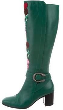 Gucci Elizabeth Dionysus Knee-High Boots