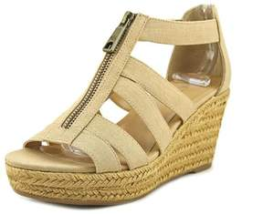 Lauren Ralph Lauren Kelcie Women US 7 Tan Wedge Heel