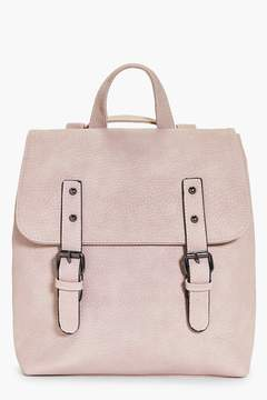 boohoo Keira Buckle Detail Structured Backpack