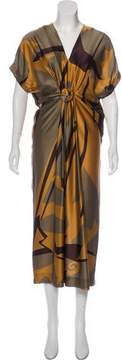 Aquilano Rimondi Aquilano.Rimondi Silk Printed Dress