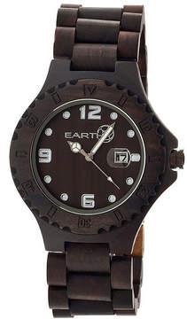 Earth Wood Raywood Dark Brown Bracelet Watch With Date Ethew1702