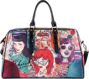 Nicole Lee Shelby Retro Print Overnight Bag (Women's)