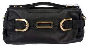 Jimmy Choo Grained Leather Satchel