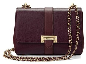 Aspinal of London Small Lottie Bag In Burgundy Saffiano