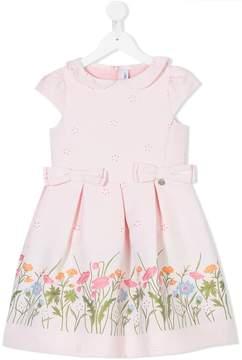 Simonetta floral print shortsleeved dress
