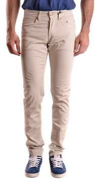 Siviglia Men's Beige Cotton Jeans.
