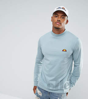 Ellesse Long Sleeve T-Shirt With Large Logo In Blue