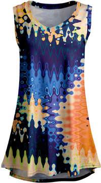 Lily Navy & Orange Abstract Sleeveless Tunic - Women & Plus