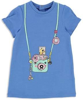 Little Marc Jacobs Girls' Fleece Trompe L'Oeil Camera Dress - Baby