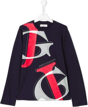 John Galliano teen long sleeve printed T-shirt