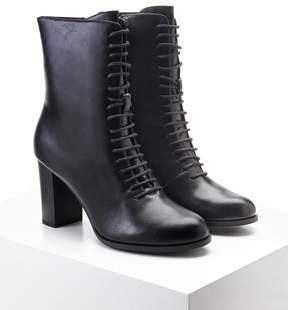 Forever 21 Faux Leather Lace-Up Boots