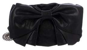 RED Valentino Leather Bow Flap Crossbody Bag