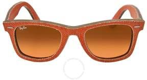 Ray-Ban New Wayfarer Orange Gradient Lens 50mm Sunglasses RB2140 11653C 50-22