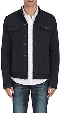 John Varvatos Men's Sherpa-Lined Cotton-Blend Knit Jacket