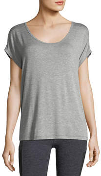 Beyond Yoga Back Out Strappy Short-Sleeve Tee