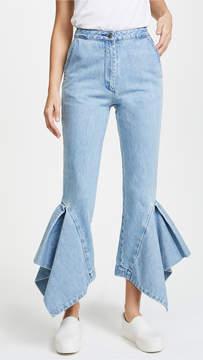 Edit Denim Boy Pants with Box Pleats & Godets
