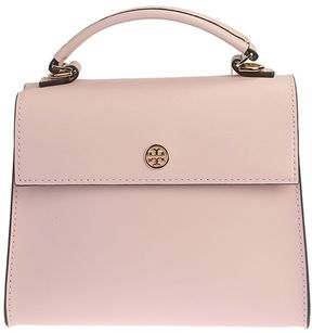 Tory Burch Leather Parker Satchel Small Leather Bag - PINK - STYLE