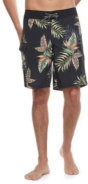 Ocean Current Men's Slim-Fit Leaf Cargo Board Shorts