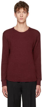 Attachment Burgundy Wool Waffle Crewneck