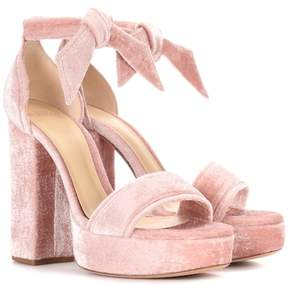 Alexandre Birman Celine velvet plateau sandals