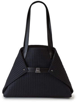 Akris Ai Small Fabric Shoulder Tote Bag