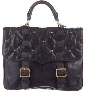 Rebecca Minkoff Leather Flap Satchel - BLUE - STYLE