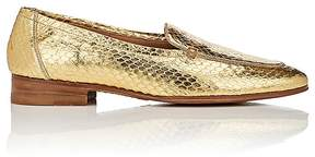 The Row Women's Adam Metallic Snakeskin Loafers