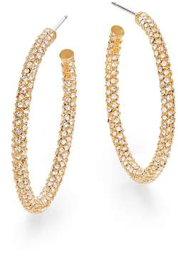 Adriana Orsini Women's Pavé Crystal Hoop Earrings/1.25