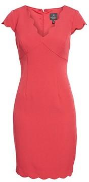 Adrianna Papell Women's Scalloped Crepe Sheath Dress