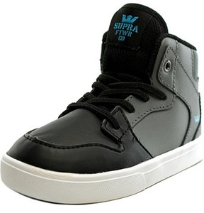 Supra Toddler Vaider Round Toe Leather Sneakers.