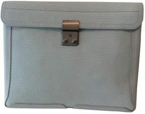 3.1 Phillip Lim Blue Leather Clutch Bag
