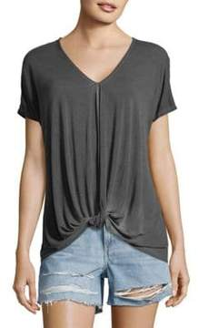 C&C California Knotted Short-Sleeve Top