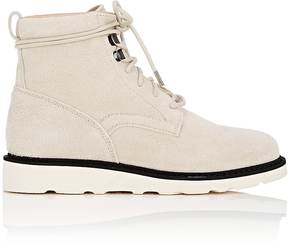 Helmut Lang WOMEN'S WEDGE-SOLE SUEDE ANKLE BOOTS