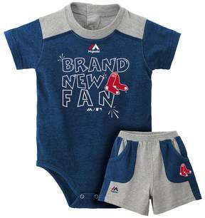 Majestic Baby Boston Red Sox Brand New Fan Bodysuit & Shorts Set