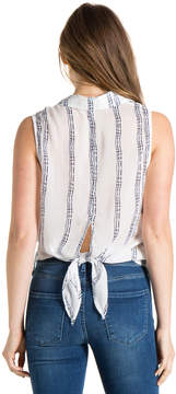 Bella Dahl Button Down Tie Back Shirt-White-S