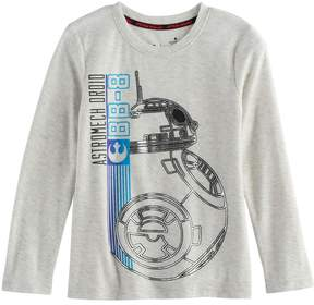 Star Wars A Collection For Kohls Boys 4-7x a Collection for Kohl's Episode VII The Force Awakens BB-8 Foiled Tee