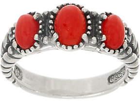 American West Three Stone Gemstone SterlingBand Ring