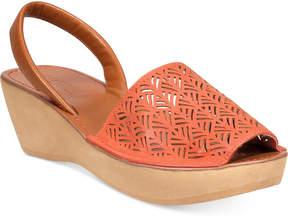 Kenneth Cole Reaction Women's Fine Glass 3 Platform Wedge Sandals Women's Shoes