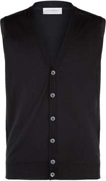 John Smedley Sleeveless Knitted Wool Waistcoat